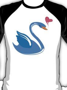 Single cartoon swan in love T-Shirt