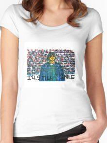 Smile (Eyedea Portrait) Women's Fitted Scoop T-Shirt