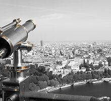 Telescope - A view from the Eiffel Tower, Paris, France by Neroli Henderson