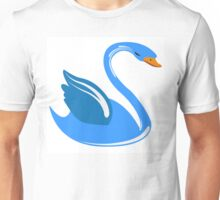 Single cartoon swan Unisex T-Shirt