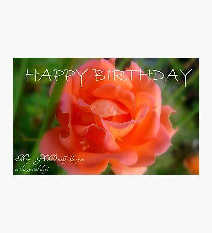Happy Birthday - Rose Bloom - NZ Photographic Print