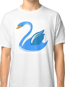 Single cartoon swan Classic T-Shirt