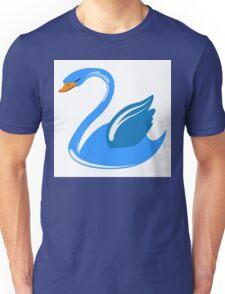 Single cartoon swan Unisex T-Shirt