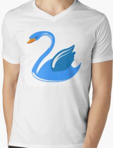 Single cartoon swan Mens V-Neck T-Shirt