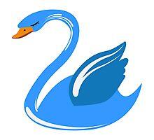 Single cartoon swan Photographic Print