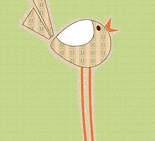 Delilah the fabric swatch bird by Tiffany Atkin