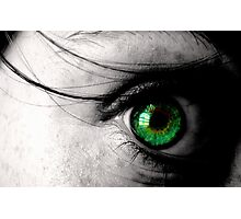 Her Green Gaze Photographic Print