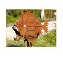 freaky fish Art Print