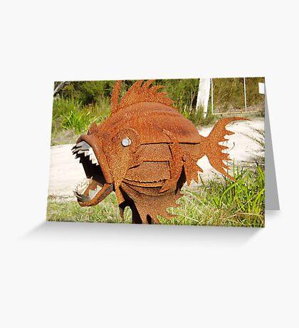 freaky fish Greeting Card