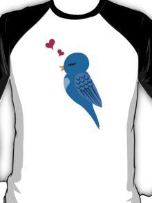 Single cartoon bird in love T-Shirt