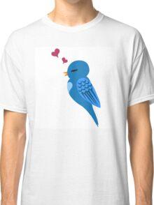 Single cartoon bird in love Classic T-Shirt