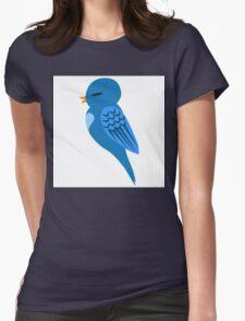 Adorable single cartoon bird Womens Fitted T-Shirt