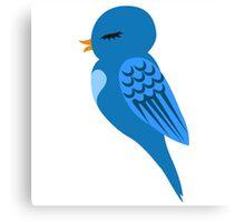 Adorable single cartoon bird Canvas Print