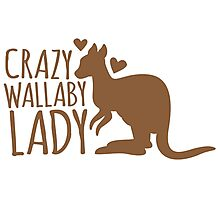 Crazy Wallaby lady (like a little kangaroo) Photographic Print
