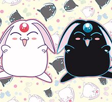 Black and White Mokona by Rickykun