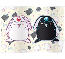 Black and White Mokona Poster