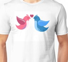 Two cartoon birds in love Unisex T-Shirt