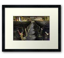 Walk down the aisle Framed Print