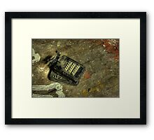 Ancient Phone Framed Print