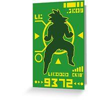 DBZ - Saiyan Power Over 9000 Greeting Card