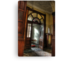 Stained glass, stained walls Canvas Print