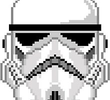 8-BIT STORMTROOPER by Benzo997
