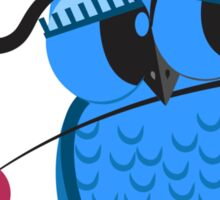 Cute cartoon owl in love Sticker