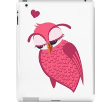 Cute cartoon owl in love iPad Case/Skin
