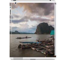 View of Phang Nga Bay from Koh Panyee at dusk iPad Case/Skin