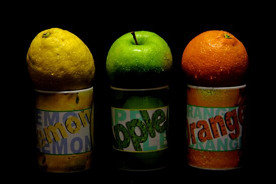 Lemon Apple Orange by jerry  alcantara