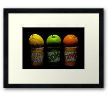 Lemon Apple Orange Framed Print