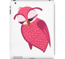 Cute single cartoon owl iPad Case/Skin