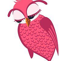 Cute single cartoon owl by berlinrob
