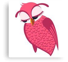 Cute single cartoon owl Canvas Print