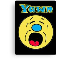 Iskybibblle Products Yawn Canvas Print