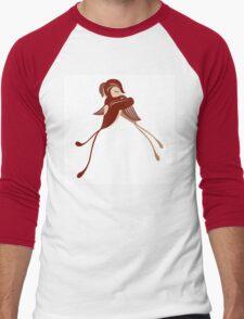 Two cartoon birds in love Men's Baseball ¾ T-Shirt
