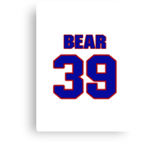 National football player Pooh Bear jersey 39 Canvas Print