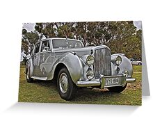 Bentley at Cars Rock Greeting Card