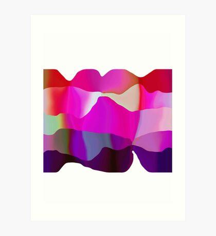 candy ribbons Art Print