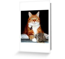 Cat and Mouse Portrait Greeting Card