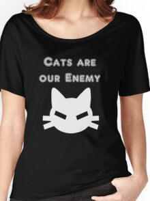 Iskybibblle Products Cats are our Enemy White Women's Relaxed Fit T-Shirt