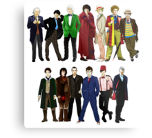 Doctor Who - The 13 Doctors Metal Print