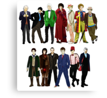 Doctor Who - The 13 Doctors Canvas Print