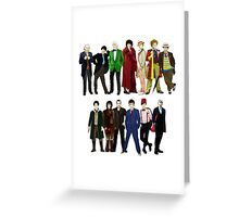 Doctor Who - The 13 Doctors Greeting Card
