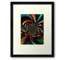 rainbow vortex Framed Print