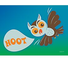 Owl Hoot Photographic Print