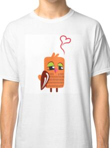 Cute cartoon owl in love Classic T-Shirt