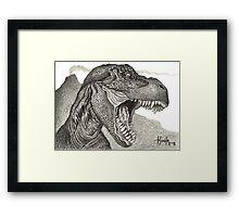 Cretaceous Tyrant - Tyrannosaurus Rex Framed Print