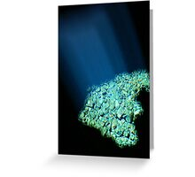 A streak of blue light Greeting Card