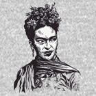 Tender Self Belief (portrait of Frida Kahlo) by Angelique  Moselle